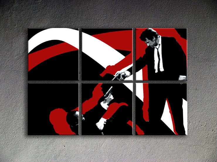 Popart schilderij Reservoir Dogs 6 delig