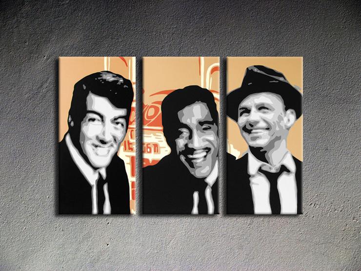 Popart schilderij Rat Pack 3