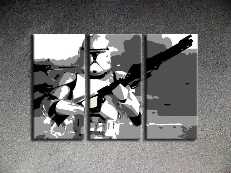 Popart schilderij Star Wars 3 delig 1