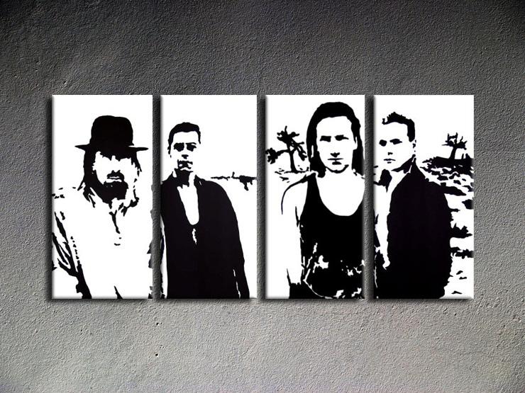 Popart schilderij U2 in Black 2