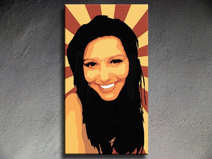 Popart schilderij Girl 1 delig