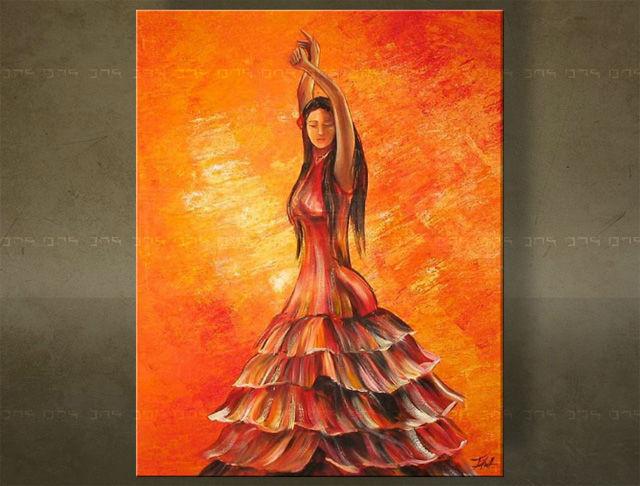 Handgeschilderd schilderij Dansen 1 delig 1952FA