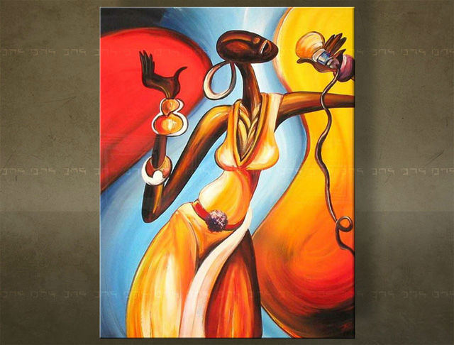 Handgeschilderd schilderij Muziek 1 delig 2251FA