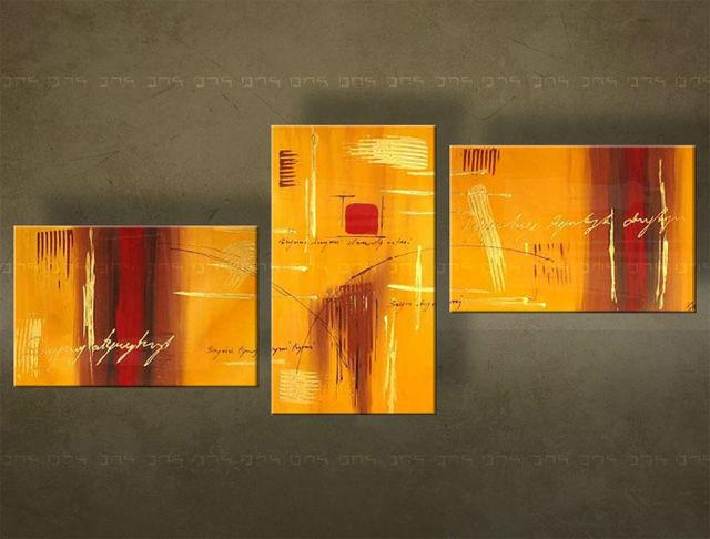 Handgeschilderd schilderij Abstract 3 delig 3352FA