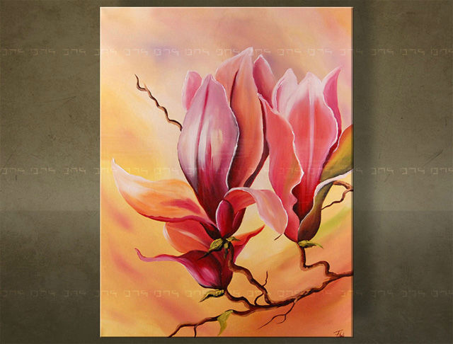 Handgeschilderd schilderij Bloemen 1 delig 5622FA