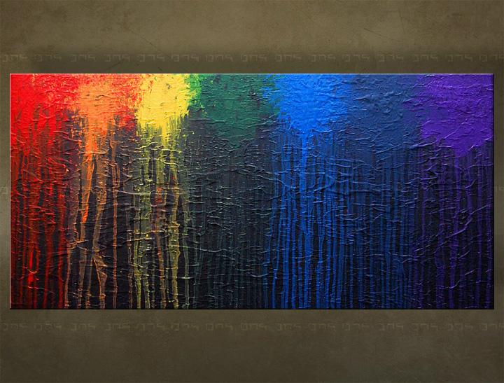 Handgeschilderd schilderij Abstract 1 delig 5874FA