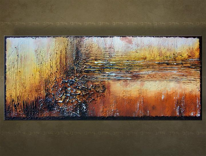 Handgeschilderd schilderij Abstract 1 delig 5886FA